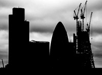 London in silhouette